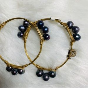 Bourbon and Boweties Beaded Bracelet Bangles
